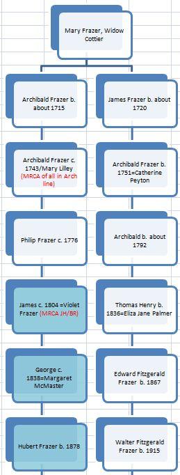 YDNA Arch James Tree