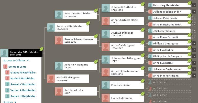 Ancestry Alexander Rathfelder